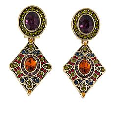"Heidi Daus ""The Deco Trilogy"" Crystal Drop Earrings"