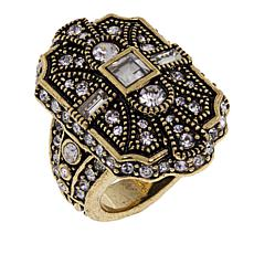 "Heidi Daus ""The Deco Trilogy"" Crystal Shield Ring"