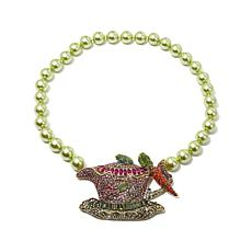"Heidi Daus ""Time For Tea"" Beaded Toggle Necklace"