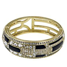 "Heidi Daus ""To Tie For"" Crystal and Enamel Bangle Bracelet"