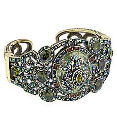 "Heidi Daus ""Toad-ally Fab"" Hinged Crystal-Accented Bangle Bracelet"