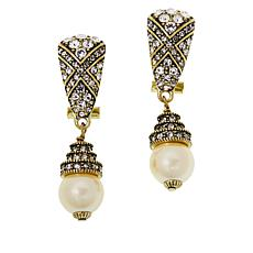 "Heidi Daus ""Triple Play"" Crystal Drop Earrings"