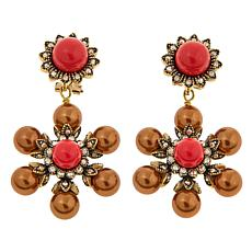 "Heidi Daus ""Triple Threat"" Crystal Drop Earrings"