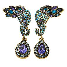 "Heidi Daus ""Unbreakable Bond"" Crystal Drop Earrings"