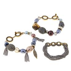 "Heidi Daus VIDA ""Unbroken"" 3-piece Bracelet Set"