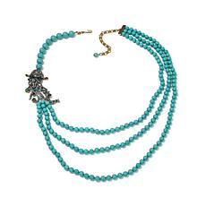 "Heidi Daus ""Well-Armed"" Beaded Crystal Station Necklace"