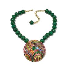 "Heidi Daus ""Witzend Whimsy"" Beaded Drop Necklace"