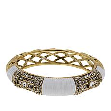 "Heidi Daus ""Yacht Club"" Crystal and Enamel Bangle Bracelet"