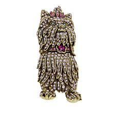 "Heidi Daus ""Yorkshire Terrier"" Crystal Pin"