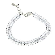 "Herkimer Mines 58.8ctw ""Diamond"" Quartz 7-1/4"" Tennis Bracelet"