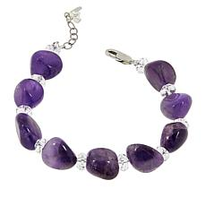 "Herkimer Mines Amethyst and Herkimer ""Diamond"" Quartz Bracelet"