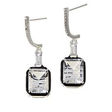 "Herkimer Mines ""Diamond"" Quartz and Topaz Special-Cut Octagon Earrings"