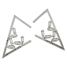 "Herkimer Mines ""Diamond"" Quartz and White Topaz Earrings"