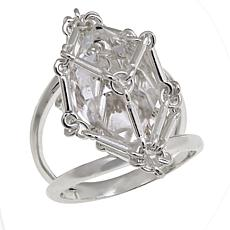 "Herkimer Mines ""Diamond"" Quartz Caged Ring"