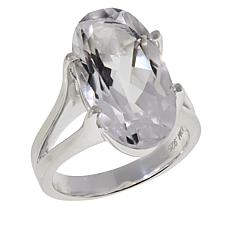 "Herkimer Mines ""Diamond"" Quartz Oval Solitaire Ring"