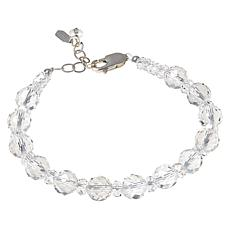 "Herkimer Mines ""Diamond"" Quartz Sterling Silver Bold Beaded Bracelet"