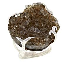 Herkimer Mines Herkimer Brown Drusy Freeform Ring