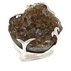 Herkimer Mines Herkimer Brown Drusy Freeform Ring
