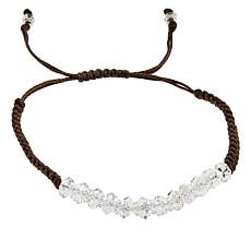 "Herkimer Mines Herkimer ""Diamond"" Quartz Adjustable Macrame Bracelet"