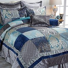 Highgate Manor Patchwork 8-piece Comforter Set - Blue