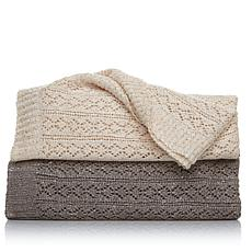 Highgate Manor Sophisticated Sequin Knit Throw