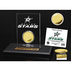 Highland Mint Dallas Stars Gold Coin Etched Acrylic
