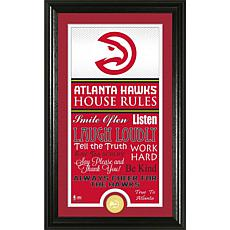 "Highland Mint ""House Rules"" Bronze Coin Photo Mint - Atlanta Hawks"
