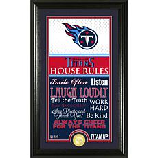 Highland Mint Tennessee Titans House Rules Supreme Photo Mint