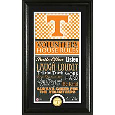 """Highland Mint University of Tennessee """"House Rules"""" Coin Photo Mint"""