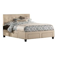 Hillsdale Furniture Duggan 6-Drawer Storage Bed with Ra