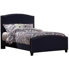 Hillsdale Furniture Kerstein Twin Bed with Rails - Navy Linen