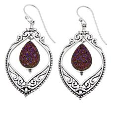 Himalayan Gems™ Copper-Pink Drusy Filigree Earrings