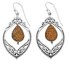 Himalayan Gems™ Goldtone Drusy Filigree Earrings
