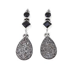 Himalayan Gems™ Gray Drusy and Black Spinel Earrings