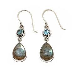 Himalayan Gems™ Labradorite and Blue Topaz Earrings