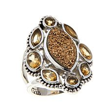 Himalayan Gems™ Marquise Drusy and Gemstone Ring