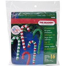 Holiday Beaded Ornament Kit - Candy Cane Assortment, Makes 16