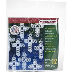 Holiday Beaded Ornament Kit-Pearl Cross Makes 12