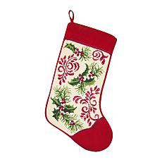 Holiday Royale Needlepoint  Stocking
