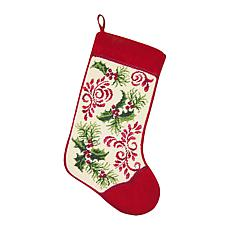 Holiday Royale Needlepoint  Stocking
