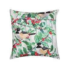 Holly & Bird Indoor Outdoor Pillow