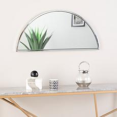 "Holly & Martin Decorative 30"" Demilune Mirror - Chrome"