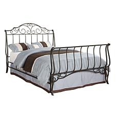 Home Origin Cameo Curved Metal Bed - Queen