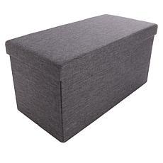 Home36 Folding Linen Ottoman