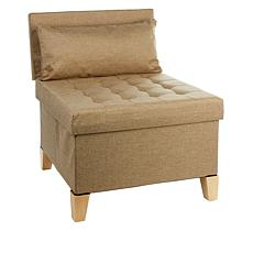 Home36 Tufted Collapsible Linen Chair