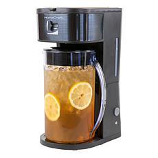 HomeCraft 3-Quart Black Café' Ice Iced Coffee and Tea Brewing System