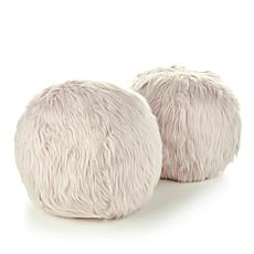 HoMedics Sqush Faux Fur Massage Pillow 2-pack