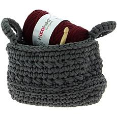 Hoooked Revisto Basket Kit with Zpagetti Yarn - Anthracite