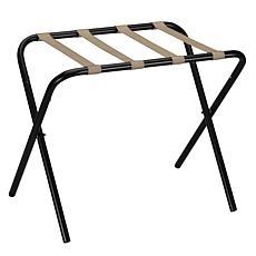 Household Essentials Folding Luggage Rack - Black