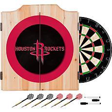 Houston Rockets NBA Wood Dart Cabinet Set